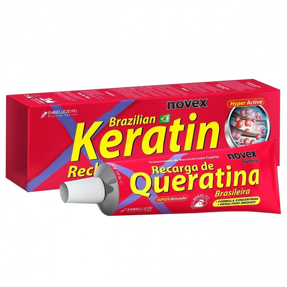 Novex Brazilian Keratin Recarga de Queratina krem do stylizacji włosów 80g