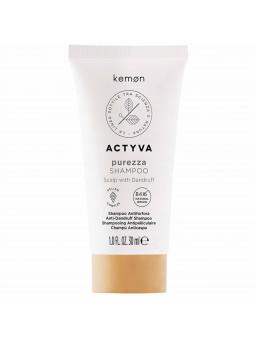 Kemon Actyva Purezza przeciwłupieżowy szampon, reguluje sebum 30ml
