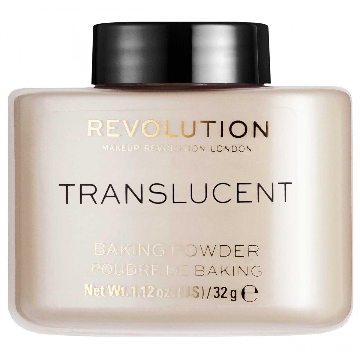 Makeup Revolution Baking Powder Translucent puder matująco-utrwalający 32g
