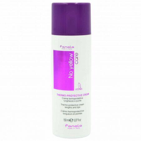 Fanola No Yellow Thermo-Protective Cream termoochronny krem wegański włosy blond 150ml
