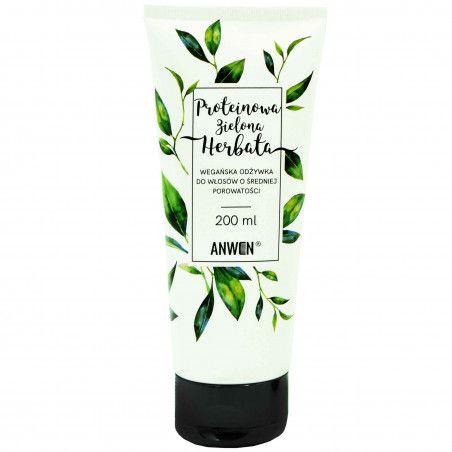 Anwen Zielona Herbata proteinowa odżywka do włosów średniej porowatości 200ml