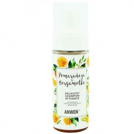 Anwen Pomarańcza i Bergamotka łagodny szampon oczyszczający w piance 170ml
