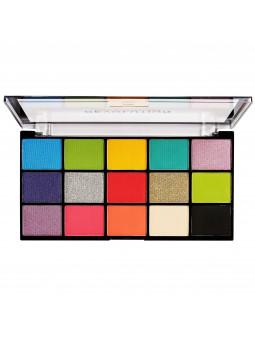 Kolorowe cienie do powiek paletka Makeup Revolution