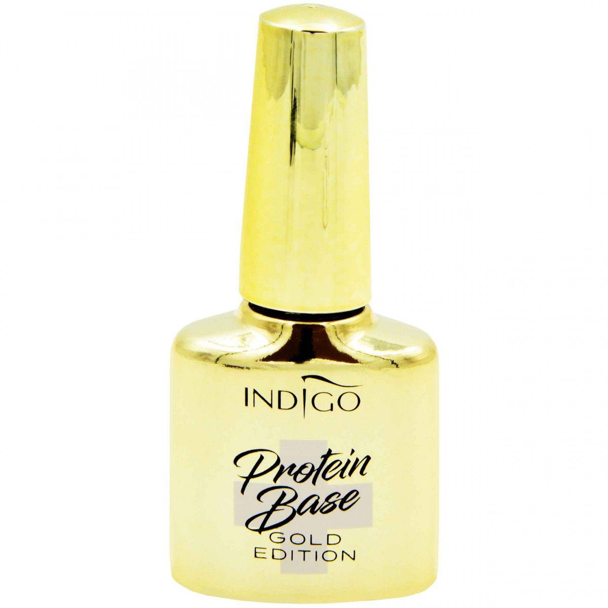 Indigo Protein Base Gold Edition Proteinowa baza do paznokci 7ml