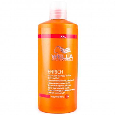 Wella Enrich Fine, szampon do włosów cienkichi podatnych na uszkodzenia 500ml