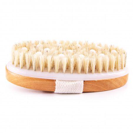 Drewniana szczotka do masażu ciała na sucho z wypustkami sklep Gobli