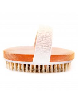 Drewniana szczotka ujędrniająca do masażu ciała na sucho zwykła sklep Gobli