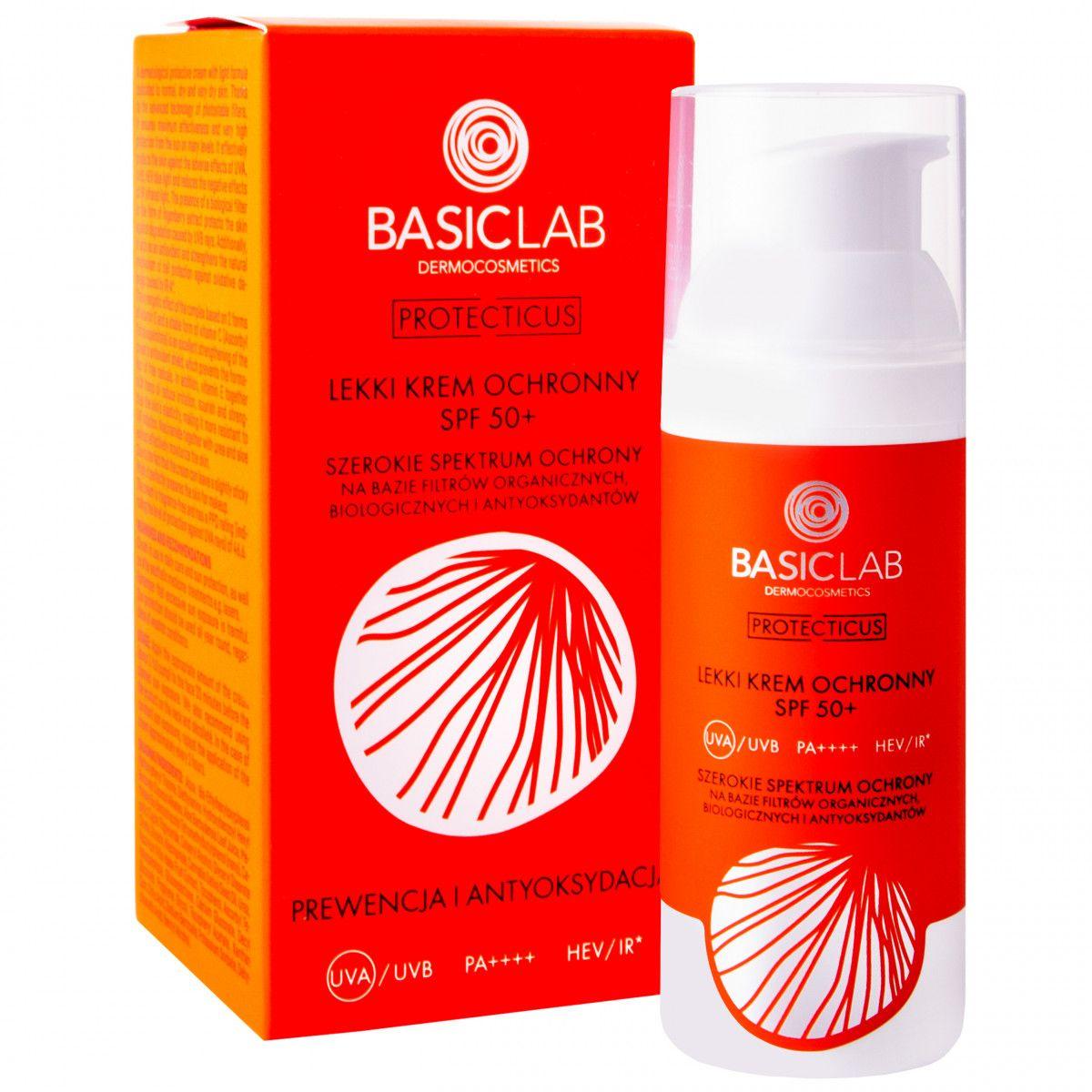 BasicLab Protecticus SPF 50+ lekki krem ochronny 50 ml