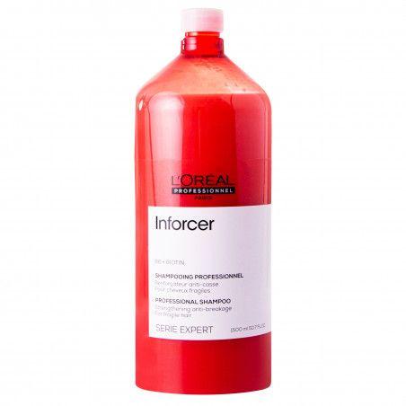 Loreal Inforcer, szampon regenerująco-nawilżający do włosów łamliwych