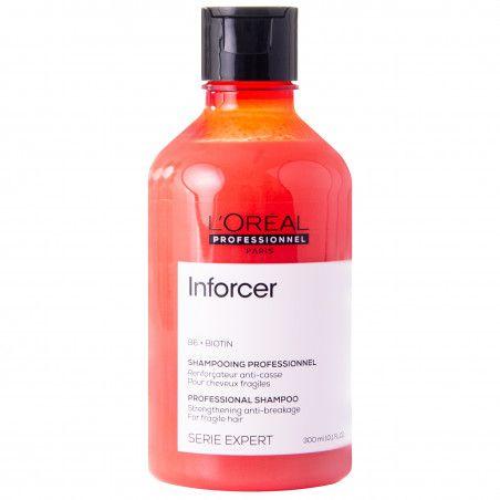 Loreal Inforcer, szampon nawilżający z biotyną, mocno regeneruje łamliwe włosy 300ml