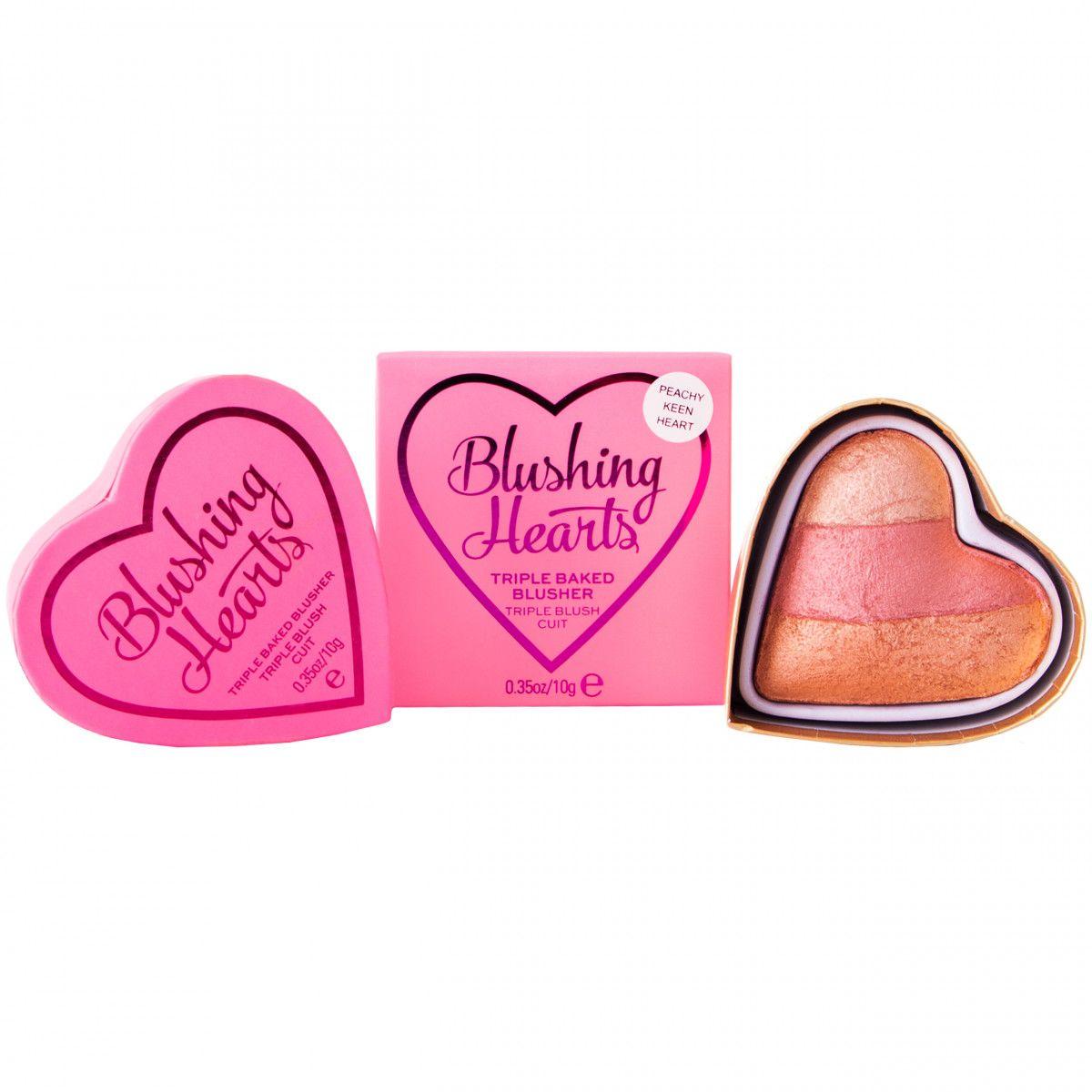Makeup Revolution I Heart Makeup Peachy Keen Heart, blusher róż do policzków 10g