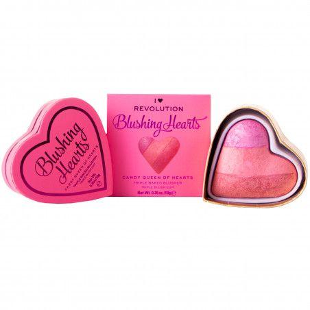 Makeup Revolution I Heart Makeup Candy Queen Of Hearts, róż 10g