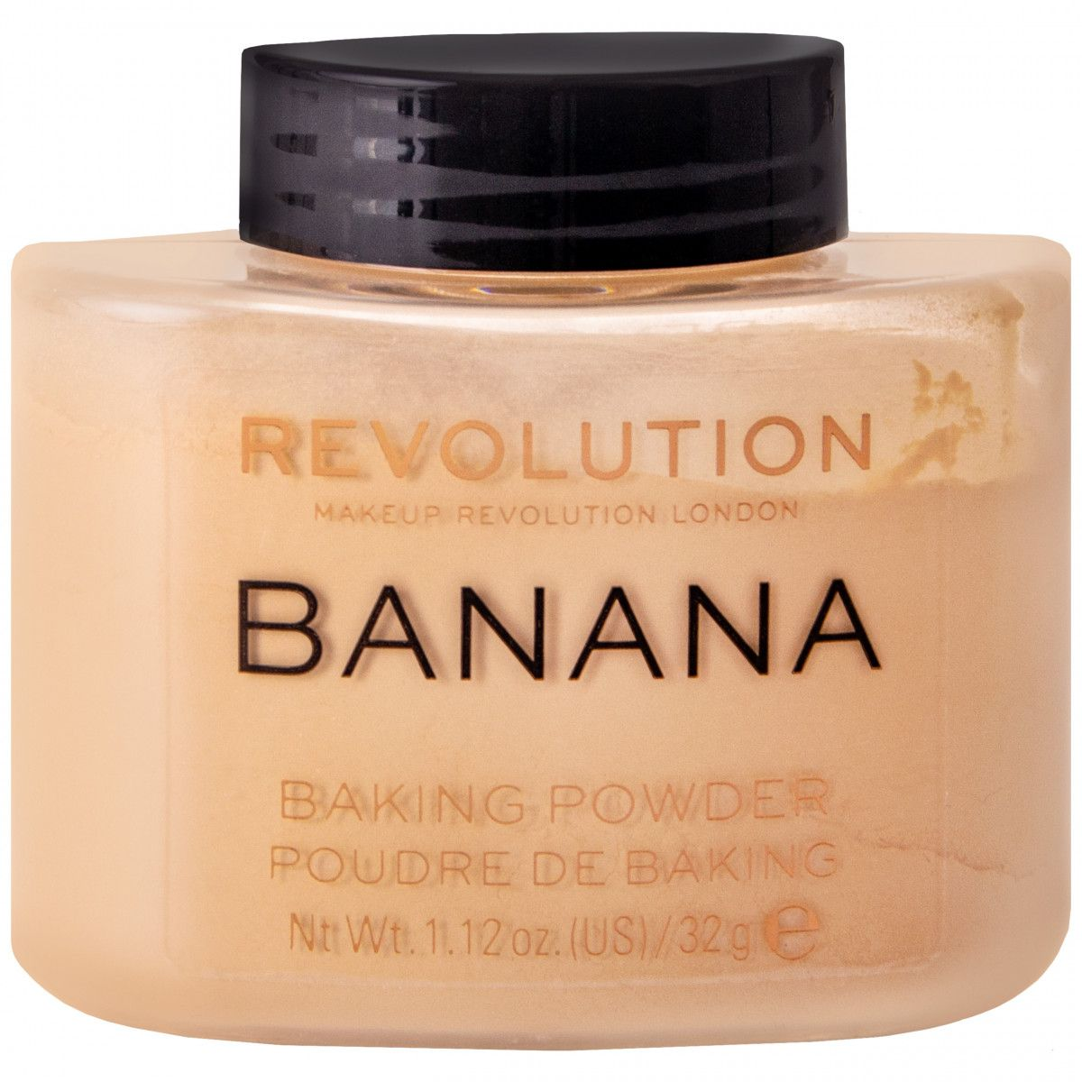 Makeup Revolution Luxary Powder Banana, lekki puder cery naczynkowej i oliwkowej 32g