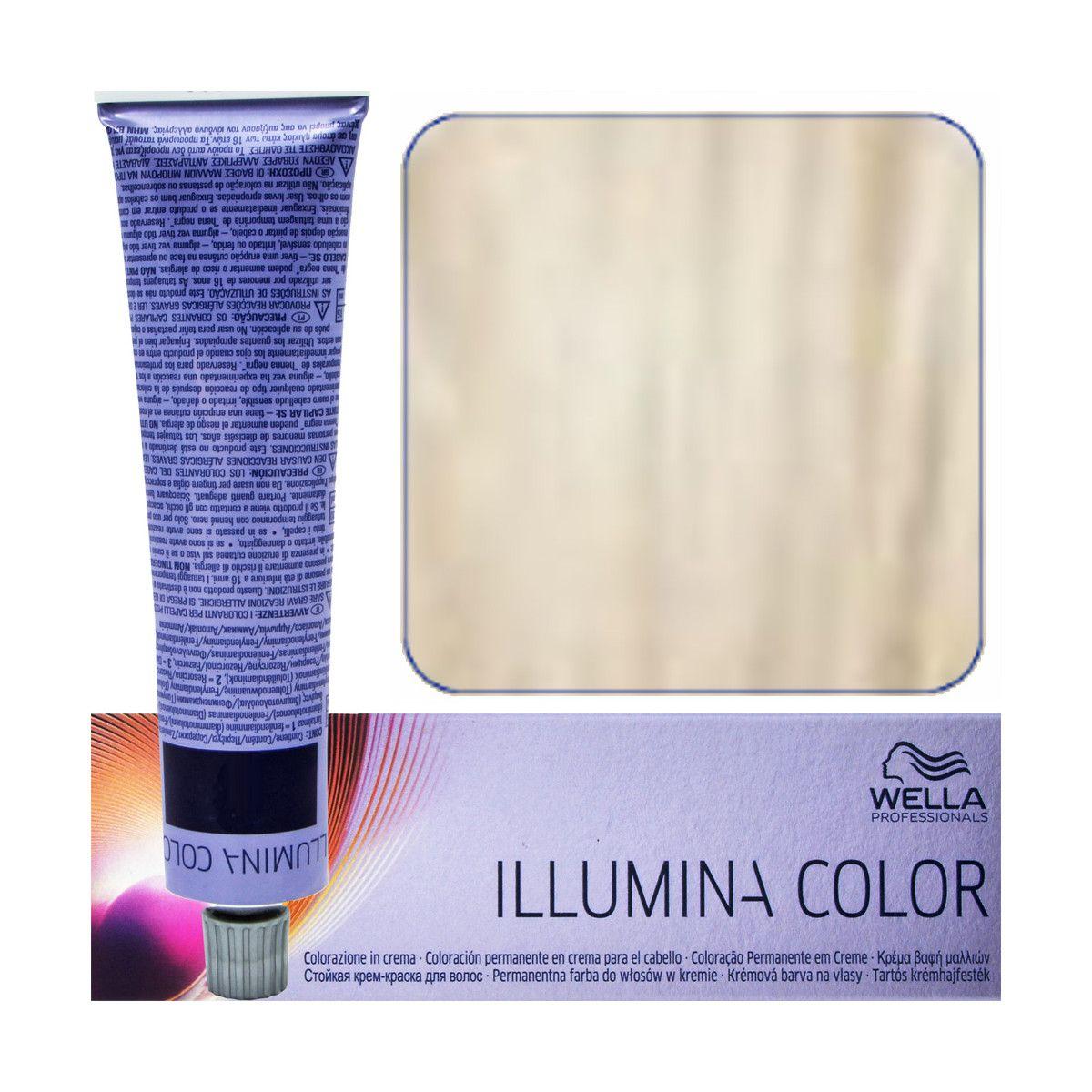 Paleta kolorów farb do włosów Wella Illumina 10/1 Bardzo Bardzo Jasny Popielaty Blond