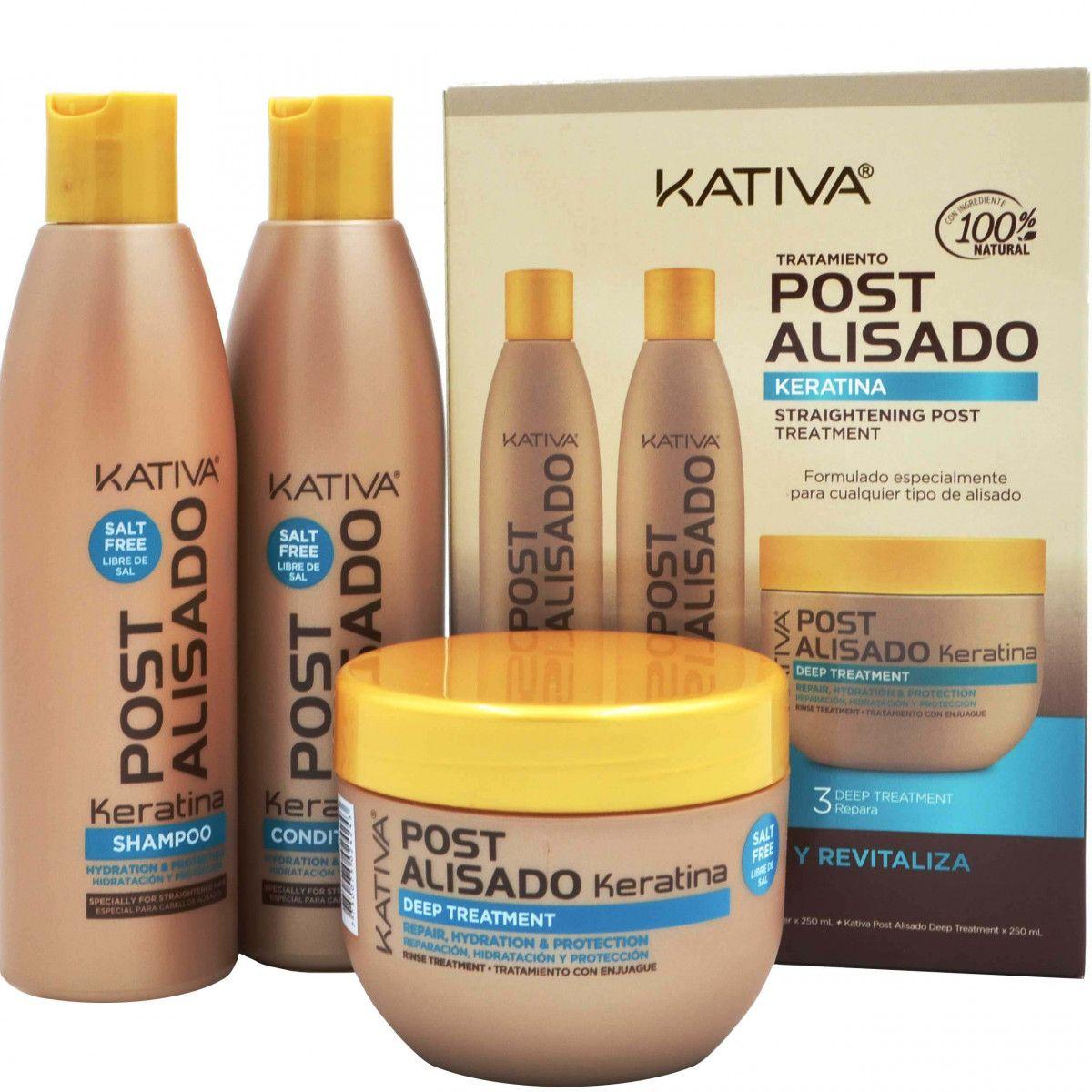 KATIVA POST 3 zestaw po keratynowym prostowaniu włosów 3 x 250ml
