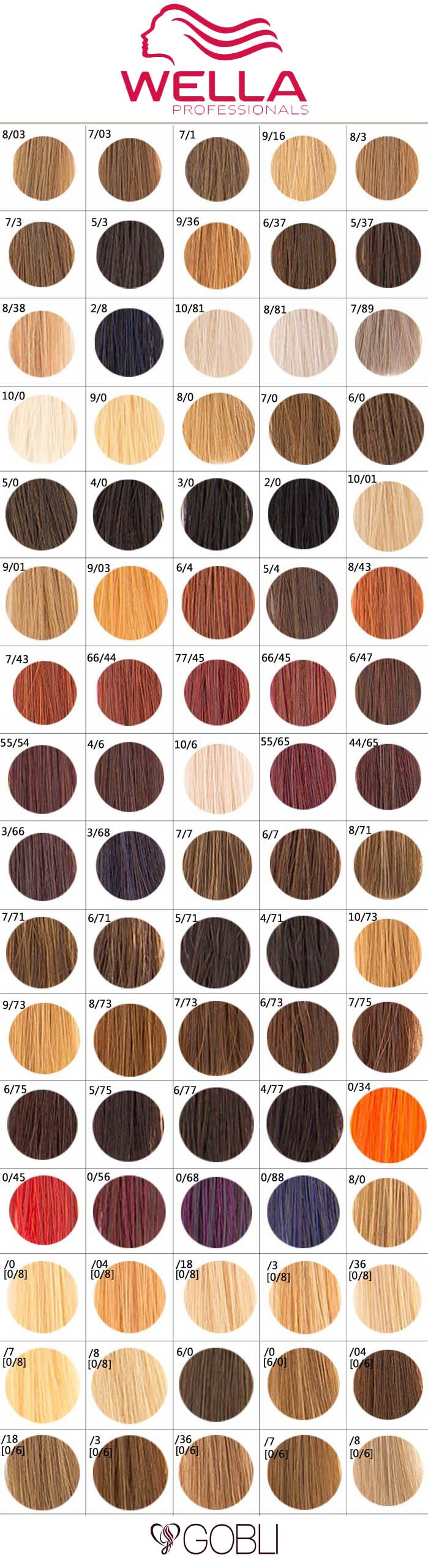 Wella Color Touch Paleta Kolorów