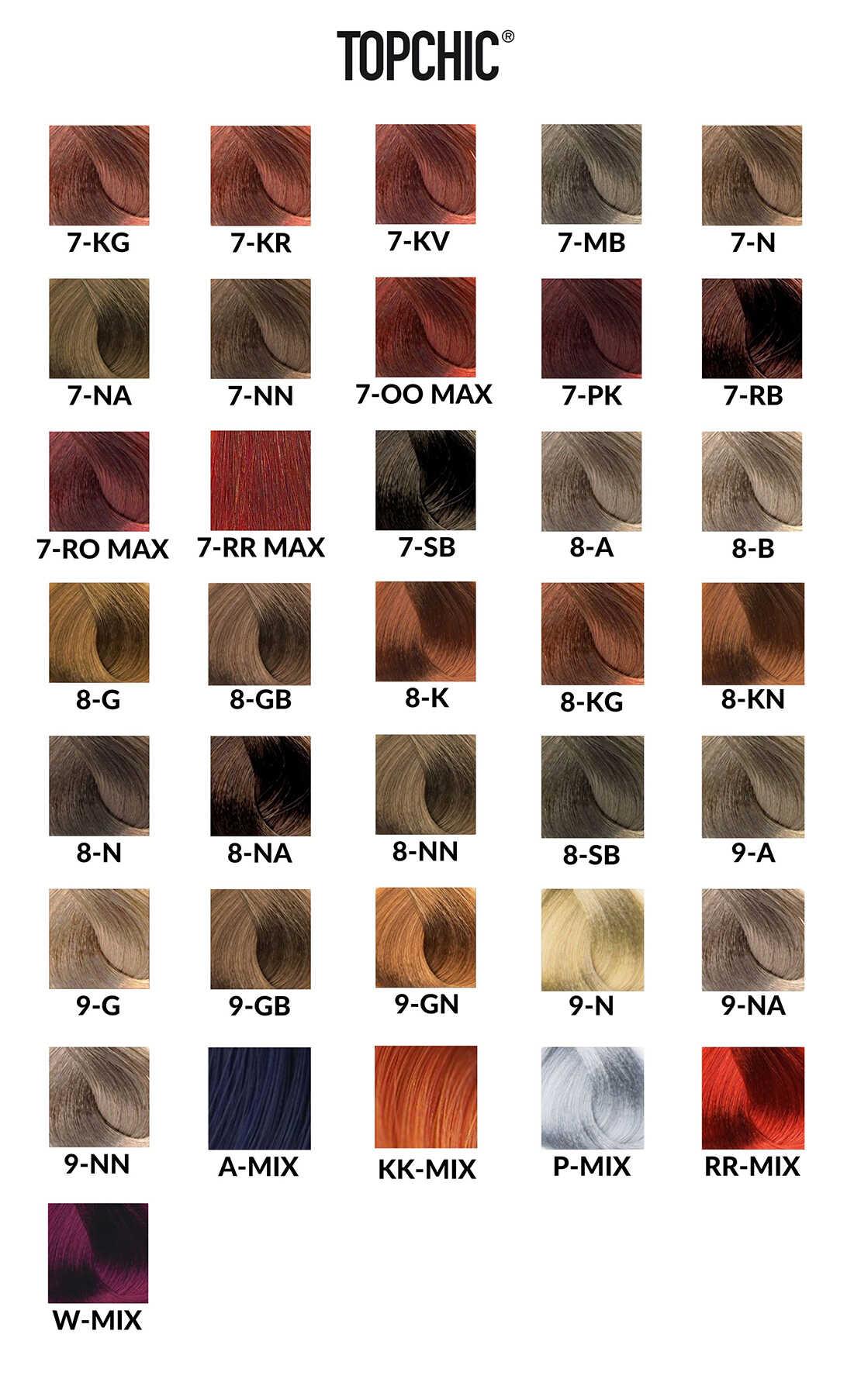 Goldwell Topchic Paleta Kolorów