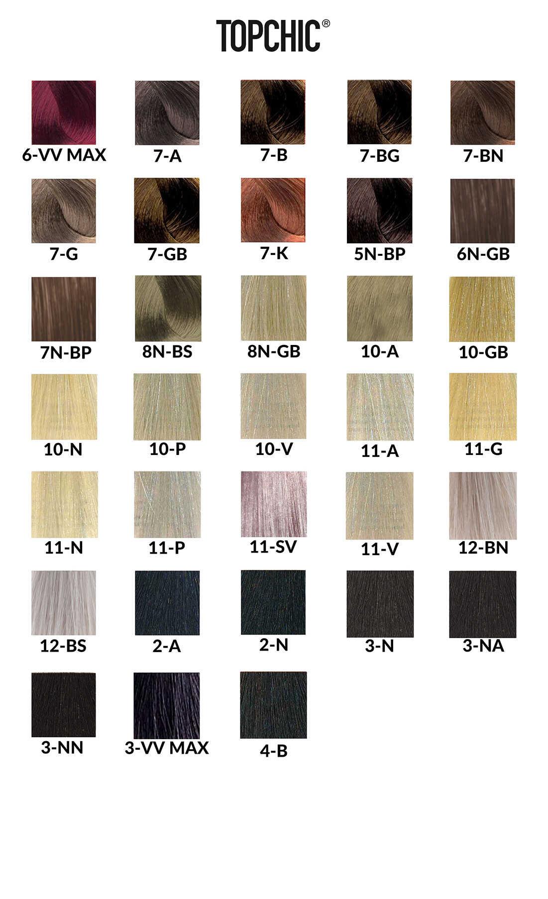 Goldwell Topchic Paleta Kolorów Blondy